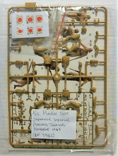 MASTERBOX 1/35 BK49 3542 BLOODY ATOLL SERIES KIT 1 JAPANESE IMPERIAL MARINES TARAWA NOVEMBER 1943  NO BOX