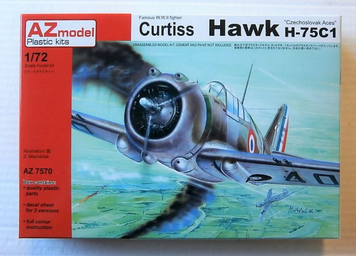 AZ MODEL 1/72 7570 CURTISS HAWK H-75C1  CZECHOSLOVAK ACES