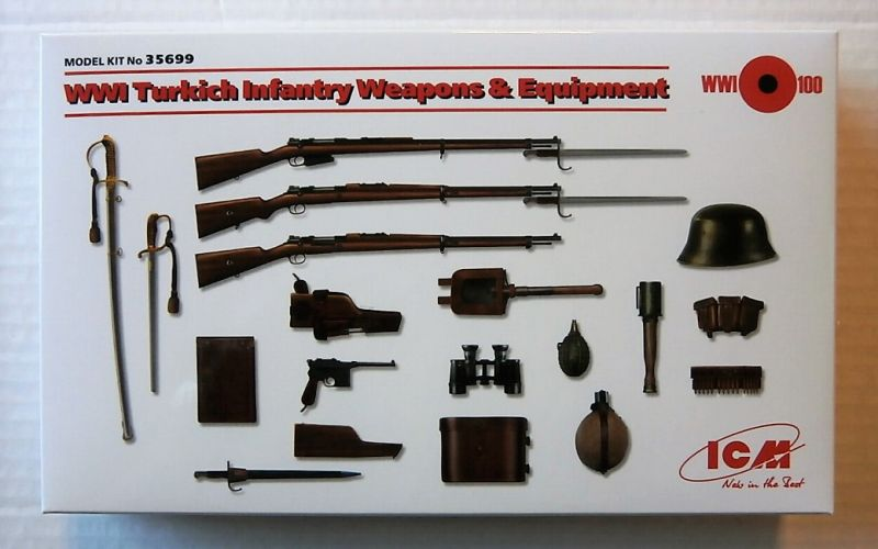 ICM 1/35 35699 WWI TURKISH INFANTRY WEAPONS AND EQUIPMENT