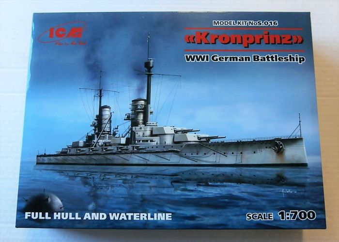ICM 1/700 S.016 KRONPRINZ WWI GERMAN BATTLESHIP