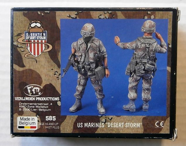 VERLINDEN PRODUCTIONS 1/35 585 US MARINES DESERT STORM