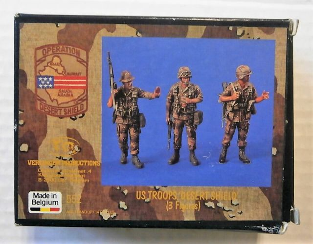 VERLINDEN PRODUCTIONS 1/35 552 US TROOPS DESERT SHIELD  3FIGS