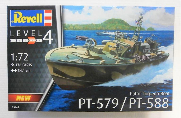 REVELL 1/72 05165 PT-579/ PT-588 PATROL TORPEDO BOAT