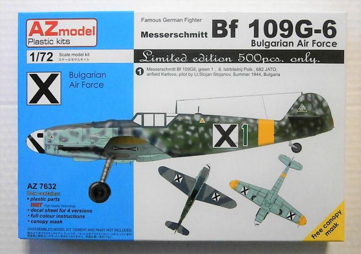 AZ MODEL 1/72 7632 MESSERSCHMITT BF109G-2 BULGARIAN AIR FORCE