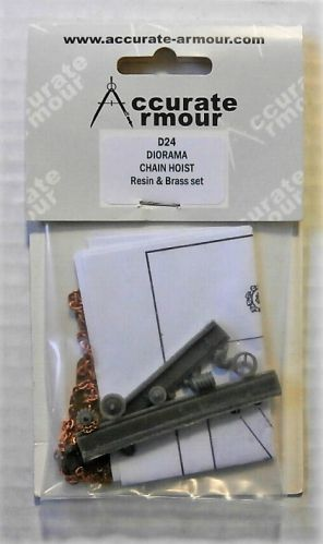 ACCURATE ARMOUR 1/35 D24 DIORAMA CHAIN HOIST - RESIN AND BRASS SET