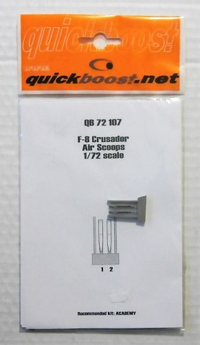 QUICKBOOST.NET 1/72 72107 F-8 CRUSADER AIR SCOOPS