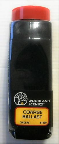 WOODLAND SCENES  1390 COARSE BALLAST CINDERS  32 oz vol SHAKER