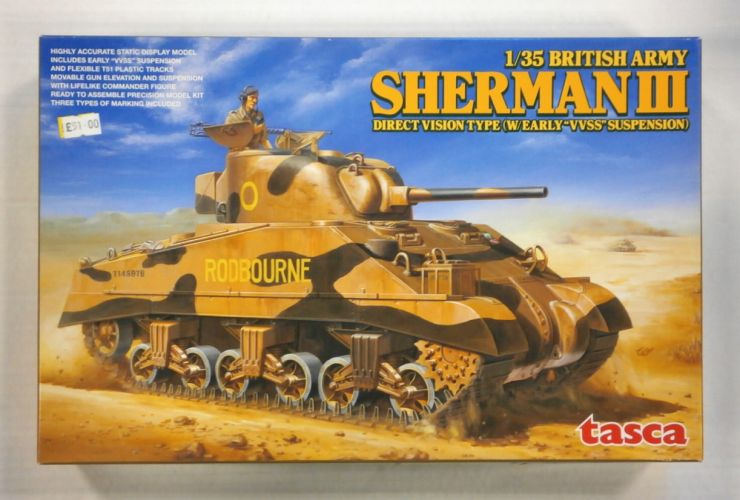 TASCA 1/35 35-017 BRITISH ARMY SHERMAN III DIRECT VISION TYPE  W/EARLY VVSS SUSPENSION