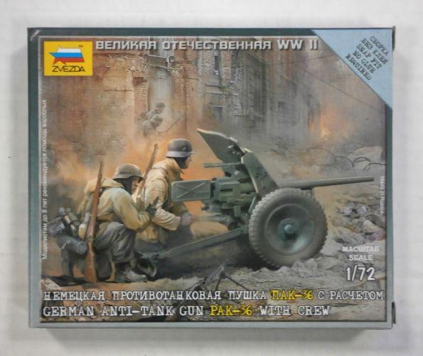 ZVEZDA 1/72 6114 GERMAN ANTI-TANK GUN PAK-36 WITH CREW