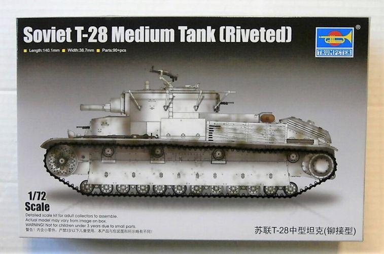 TRUMPETER 1/72 07151 SOVIET T-28 MEDIUM TANK  RIVETED
