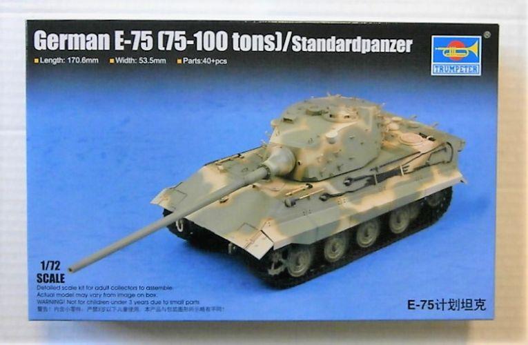 TRUMPETER 1/72 07125 GERMAN E-75  75-100 TONS  STANDARDPANZER