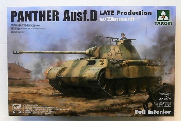 TAKOM 1/35 2104 PANTHER AUSF.D LATE PRODUCTION W/ZIMMERIT   FULL INTERIOR