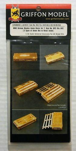 GRIFFON MODEL 1/35 L35A033 WWII GERMAN WOODEN AMMO BOXES FOR 7.5cm KW.K42/STU.K42
