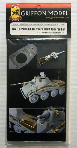 GRIFFON MODEL 1/35 L35005 WWII GERMAN SD.KFZ.234/2 PUMA ARMOURED CAR