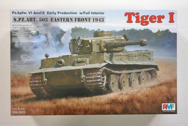 RYE FIELD MODEL 1/35 5003 TIGER I S.PZ.ABT. 503 EASTERN FRONT 1943 Pz.KPFW. VI Ausf.E EARLY PRODUCTION w/FULL INTERIOR