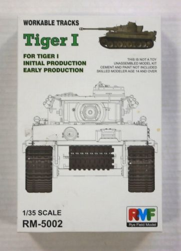 RYE FIELD MODEL 1/35 5002 WORKABLE TRACKS TIGER I for INITIAL   EARLY PRODUCTION