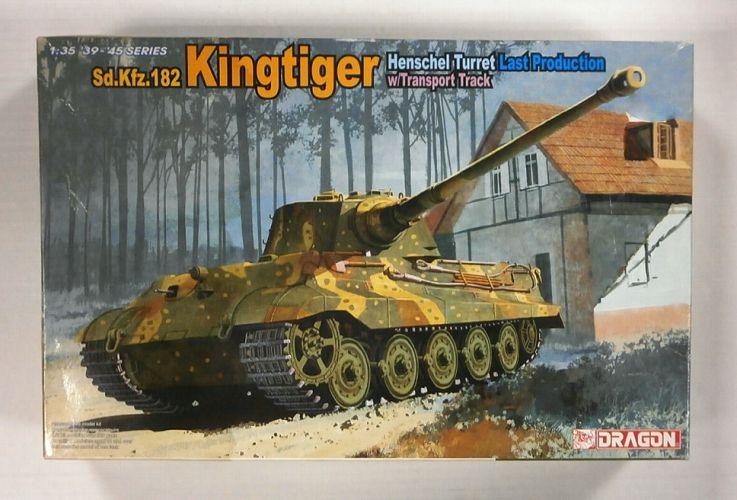 DRAGON 1/35 6209 KINGTIGER Sd.Kfz.182 HENSCHEL TURRET LAST PRODUCTION w/TRANSPORT TRACK