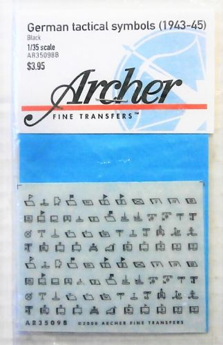 1/35 1973. ARCHER FINE TRANSFERS AR35098 GERMAN TACTICAL SYMBOLS  1943-45