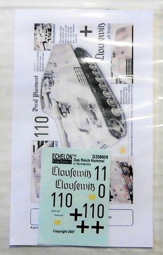 ECHELON 1/35 1980. D356008 DAS REICH HUMMEL IN NORMANDIE