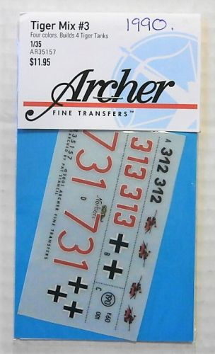 1/35 1990. ARCHER FINE TRANSFERS AR35157 TIGER MIX No 3