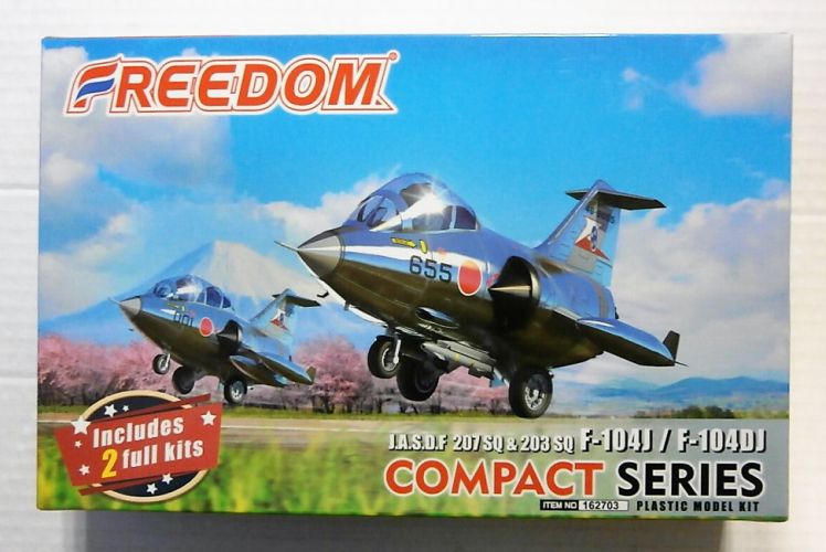FREEDOM MODELS  162703 J.A.S.D.F 207 SQ AND 203 SQ F-104J AND F-104DJ  COMPACT SERIES