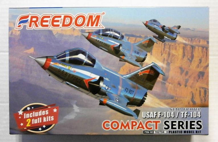 FREEDOM MODELS  162704 USAF F-104 AND TF-104 STAR FIGHTER  COMPACT SERIES