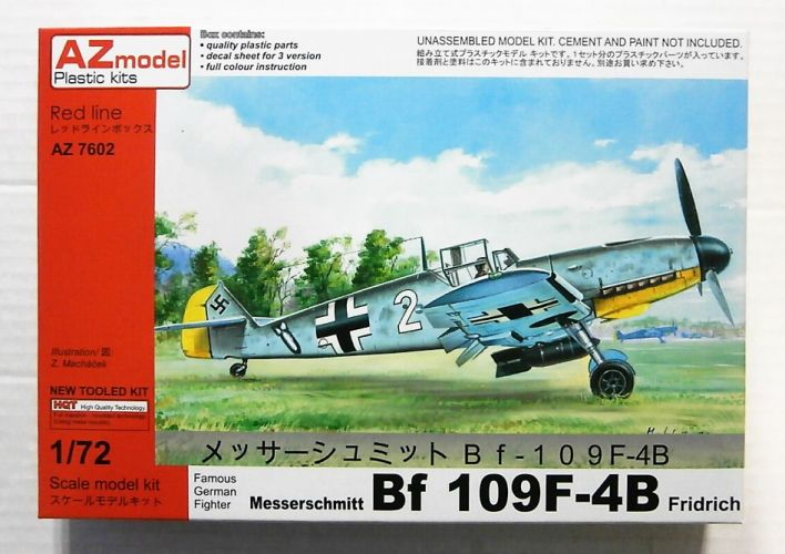 AZ MODEL 1/72 7602 MESSERSCHMITT Bf 109F-4B FRIDRICH