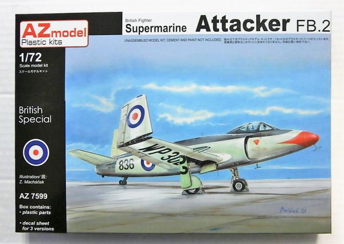 AZ MODEL 1/72 7599 SUPERMARINE ATTACKER FB.2