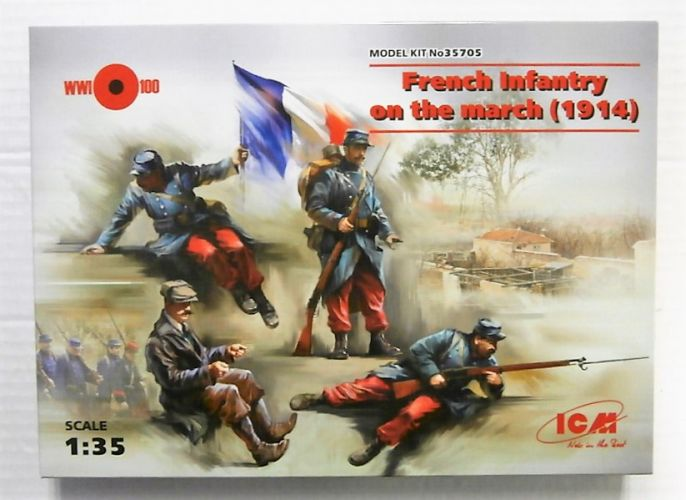 ICM 1/35 35705 FRENCH INFANTRY ON THE MARCH  1914