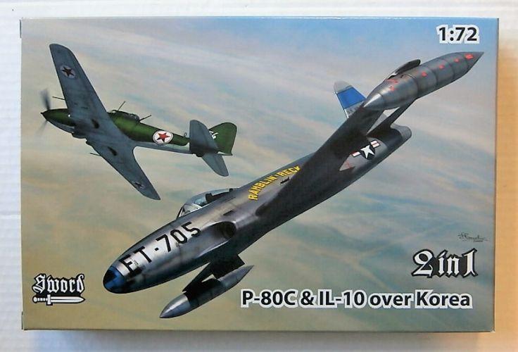SWORD 1/72 72128 P-80C   IL-10 OVER KOREA