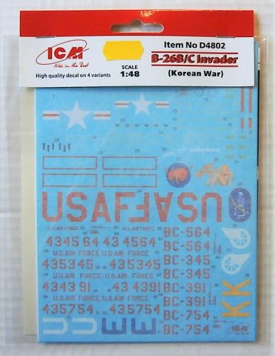 ICM 1/48 D4802 B-26B/C INVADER KOREAN WAR
