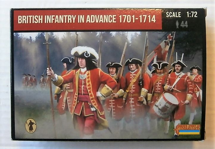 STRELETS 1/72 230 BRITISH INFANTRY IN ADVANCE 1701-1714