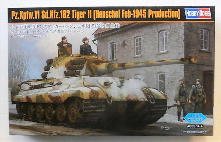 HOBBYBOSS 1/35 84532 PZ.KPFW.VI DS.KFZ.182 TIGER II HENSCHEL FEB 1945 PRODUCTION  UK SALE ONLY