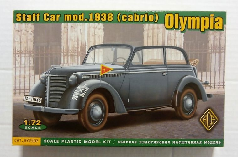 ACE 1/72 72507 OLYMPIA STAFF CAR mod. 1938  CABRIO