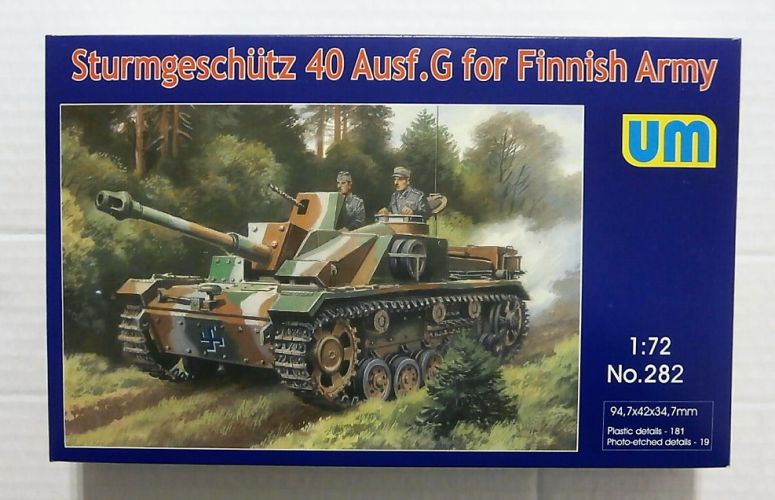 UNIMODEL 1/72 282 STURMGESCHUTZ 40 Ausf.g FOR FINNISH ARMY
