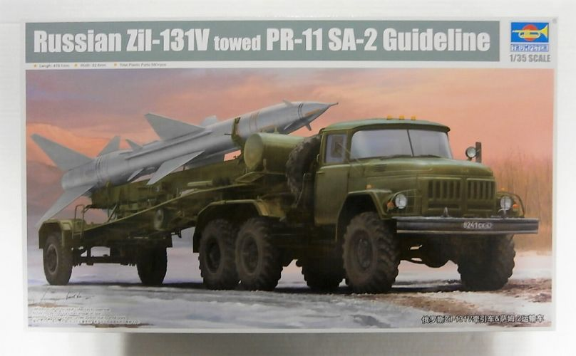TRUMPETER 1/35 01033 RUSSIAN Zil-131V TOWED PR-11 SA-2 GUIDELINE