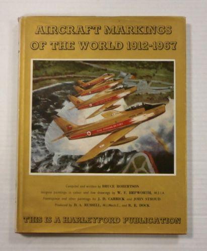 CHEAP BOOKS  ZB987 AIRCRAFT MARKINGS OF THE WORLD 1912 - 1967 -  BRUCE ROBERTSON