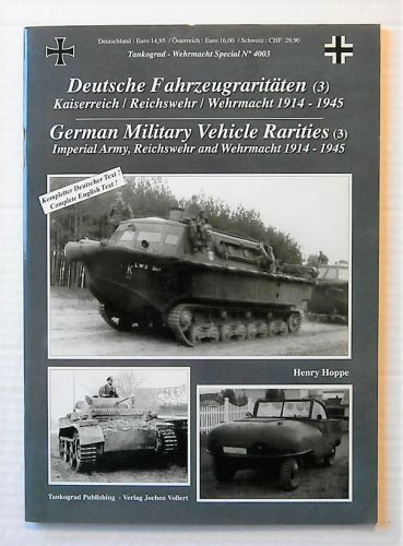 TANKOGRAD  4003 GERMAN MILITARY VEHICLE RARITIES  3