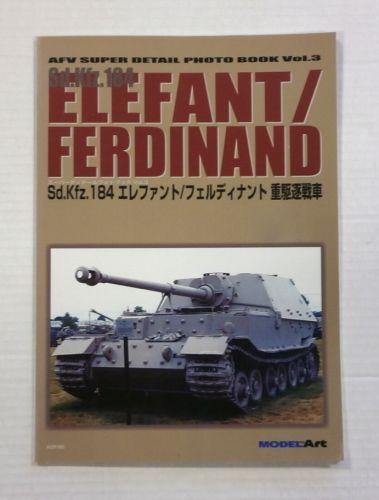 CHEAP BOOKS  ZB1078 AFV SUPER DETAIL PHOTO BOOK VOL 3 - Sd Kfz 184 ELEFANT FERDINAND