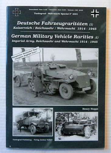 TANKOGRAD  4001 GERMAN MILITARY VEHICLE RARITIES  1
