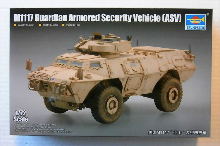 TRUMPETER 1/72 07131 M1117 GUARDIAN ARMOURED SECURITY VEHICLE  ASV