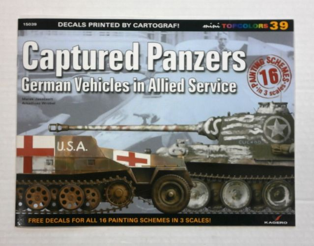 CHEAP BOOKS  ZB1074 DECALS PRINTED BY CARTOGRAPH - CAPTURED PANZERS