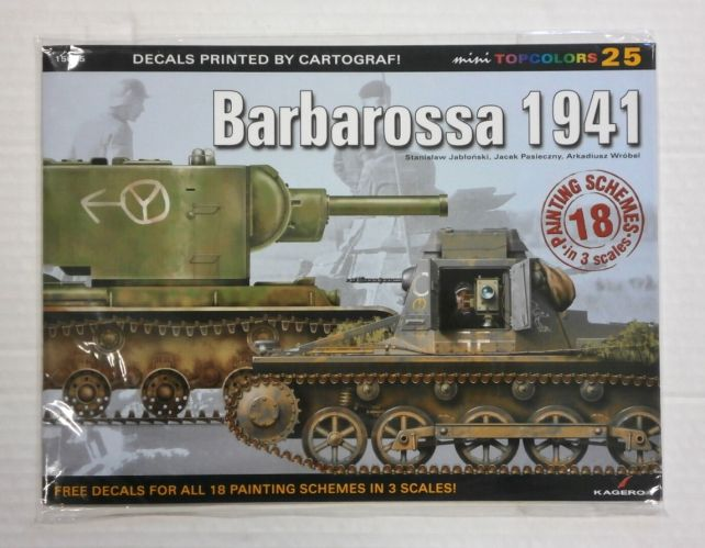 CHEAP BOOKS  ZB1073 DECALS PRINTED BY CARTOGRAPH - BARBAROSSA 1941