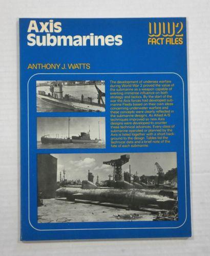 CHEAP BOOKS  ZB1080 WW2 FACT FILES - AXIS SUBMARINES