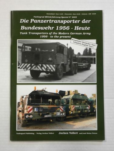 TANKOGRAD  5003 TANK TRANSPORTERS OF THE MODERN GERMAN ARMY 1956 - TO THE PRESENT