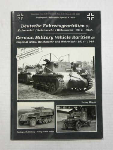 TANKOGRAD  4002 GERMAN MILITARY VEHICLE RARITIES  2