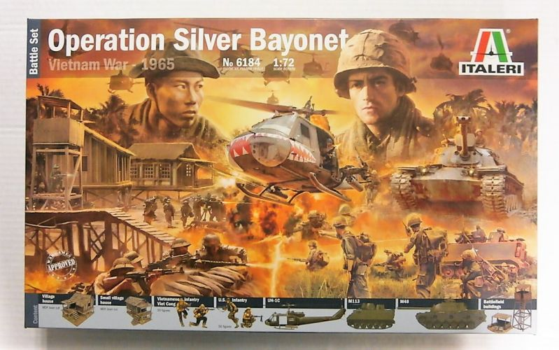 ITALERI 1/72 6184 VIETNAM WAR 1965 OPERATION SILVER BAYONET BATTLE SET