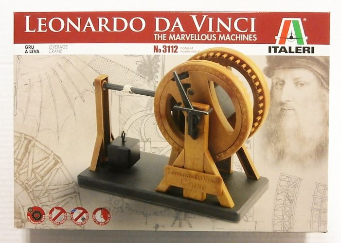 ITALERI  3112 LEONARDO DA VINCI THE MARVELLOUS MACHINES GRU A LEVA  LEVERAGE CRANE