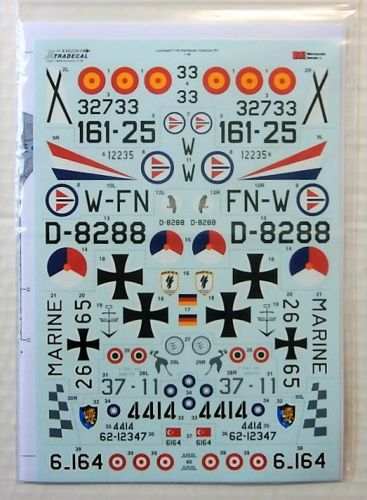 XTRADECAL 1/48 48208 LOCKHEED F-104 STARFIGHTER COLLECTION PART 1