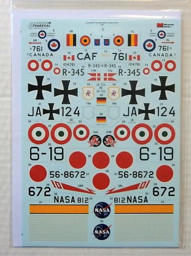 XTRADECAL 1/48 48209 LOCKHEED F-104 STARFIGHTER COLLECTION PART 2